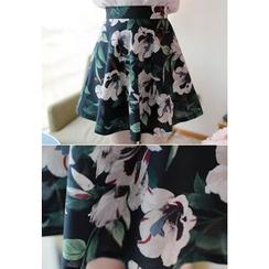 MyFiona - Floral Print A-Line Mini Skirt
