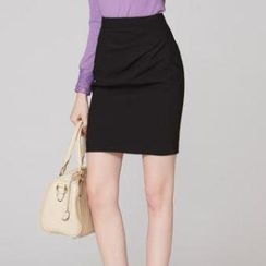 O.SA - Shirred Pencil Skirt