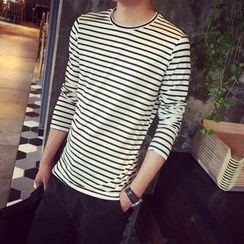 CooLook - Stripe Long-Sleeve T-shirt