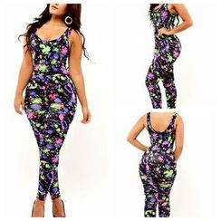 Hotprint - Painted Sleeveless Jumpsuit