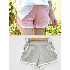 icecream12 - Piped Colored Sweat Shorts