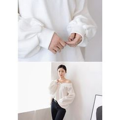 DEEPNY - V-Neck Balloon-Sleeve Pullover