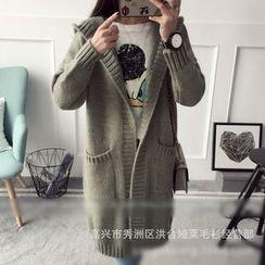 Poppy Love - Hooded Long Cardigan