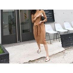 MARSHMALLOW - Wool-Blend Knit Dress