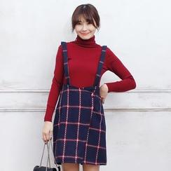 东京著衣 - 格子背带裙