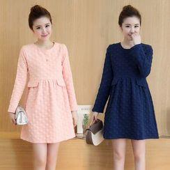 Soswift - Maternity Long-Sleeve A-Line Dress