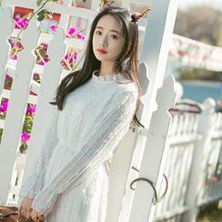 Sens Collection - Long Sleeve Midi Lace Dress