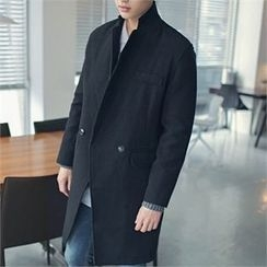 MITOSHOP - Notched-Lapel Double-Breasted Coat
