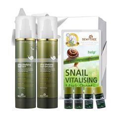 DEWYTREE - Ultra Vitalizing Snail Set A : Skin 150ml + Emulsion 150ml