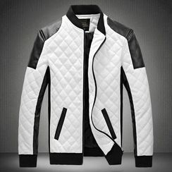 Blueforce - Quilted Faux Leather Jacket
