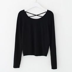Meimei - Strappy Back Long Sleeve T-Shirt