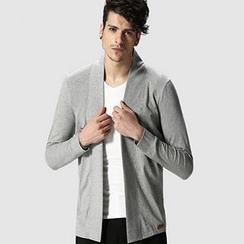 HEIZE - Plain Open Front Cardigan
