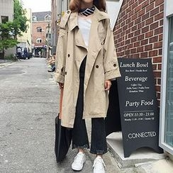 Sinbounboun - Double Breasted Trench Coat
