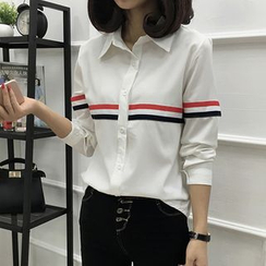 Karoline - Striped Long-Sleeve Shirt