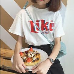 Cerauno - Lettering Short-Sleeve T-Shirt