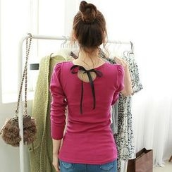 Dodostyle - Bow-Back Ribbed Top