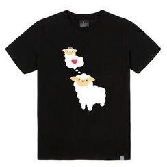 the shirts - Loving Sheep Print T-Shirt