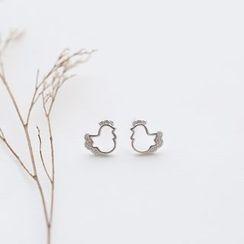 Love Generation - Chicken Sterling Silver Earrings