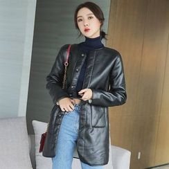 Maine - Faux-Leather Coat