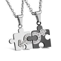 腾翼 - 情侣装拼图项链