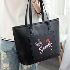 Princess Carousel - 刺繡人造皮手提包