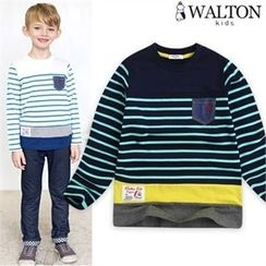 WALTON kids - Boys Pocket-Front Stripe T-Shirt