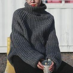 STILL YOU - Turtleneck Chunky Knit Sweater
