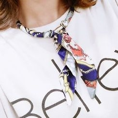 Ticoo - Printed Scarf Necklace