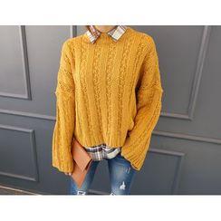 DANI LOVE - Drop-Shoulder Chunky-Knit Sweater
