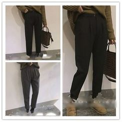 Whitney's Shop - Plain Tapered Pants