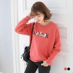 OrangeBear - Work Graphic Fleecy Sweatshirt