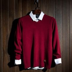 Fusuma - V-neck Knit Top