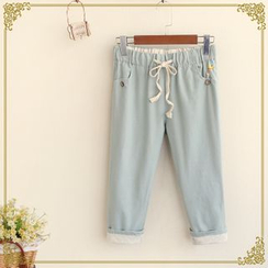 Fairyland - Cropped Drawstring Pants