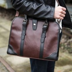 Yiku - Faux Leather Briefcase