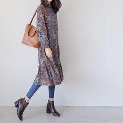 WITH IPUN - Floral Print Dress