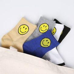 Aeoo - Contrast-Stripe Socks