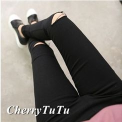 CherryTuTu - Cut Out Skinny Pants