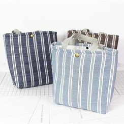 Ms Bean - Pinstripe Fabric Tote Bag
