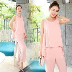 Romantica - Mock Two-Piece Jumpsuit