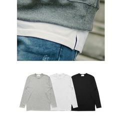 JOGUNSHOP - Crewneck Long-Sleeve T-Shirt