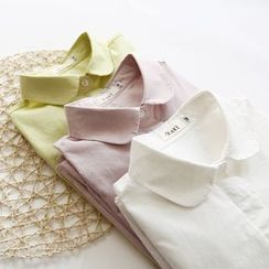 布丁坊 - 扇边长袖衬衫