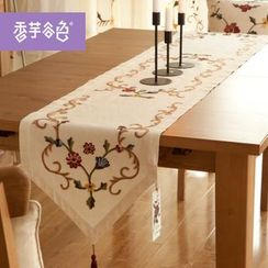 Tarobear - Embroidered Table Runner