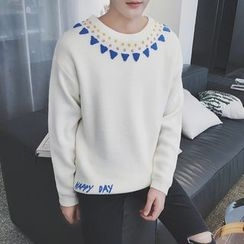 Arthur Look - Embroidered Sweater