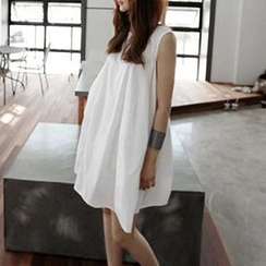 Gaia - Maternity Sleeveless Linen Cotton Dress
