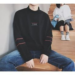Bestrooy - Couple Matching Embroidered Mock Neck Pullover
