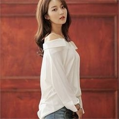 CHICLINE - Off-Shoulder Blouse