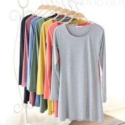 Grainie - 纯色长袖裙衣