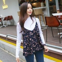 Envy Look - Spaghetti-Strap Floral Top