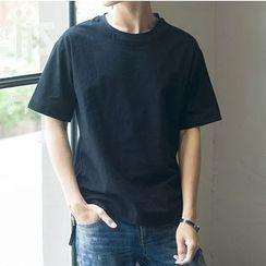 V37 - Short-Sleeve Plain T-Shirt