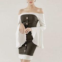 Jolly Club - Mock Two-Piece Dress